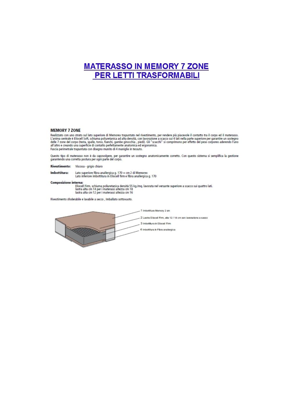 Letti Trasformabili Matrimoniali CLEI con misure e dimensioni ...