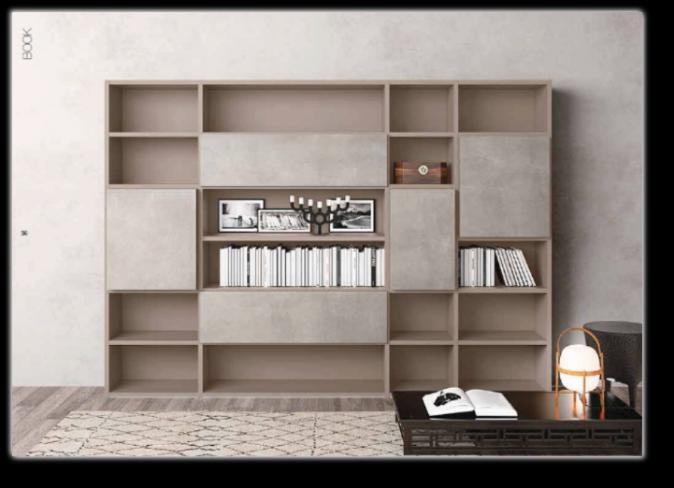 Librerie componibili in legno strutture in alluminio e for Librerie componibili calligaris