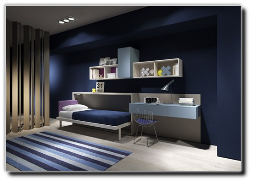 Letto nell armadio cool immagine del letto a parete - Altezza tv a parete camera da letto ...