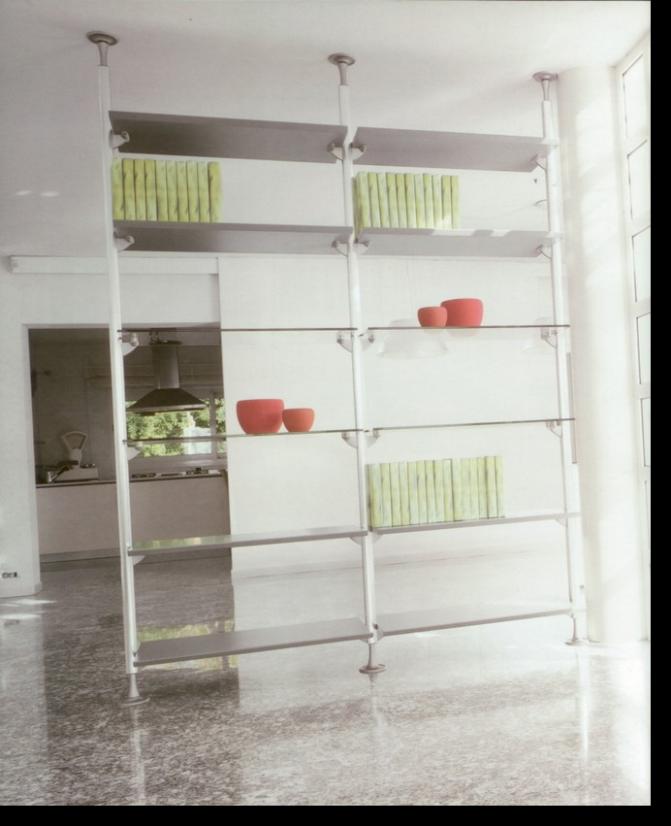Librerie componibili in legno strutture in alluminio e for Librerie componibili moderne