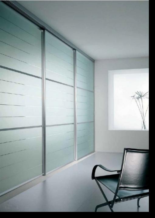 Cabine armadio con ante scorrevoli a soffitto epicentro - Porta scorrevole vetro satinato ...