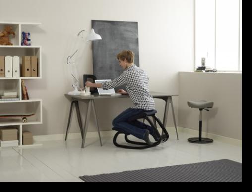 Sedie ergonomiche varier.la corretta postura alla scrivania