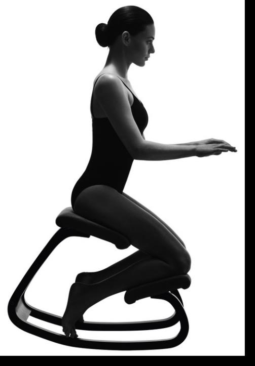 Sedie Ergonomiche Varier.La corretta postura alla scrivania ...